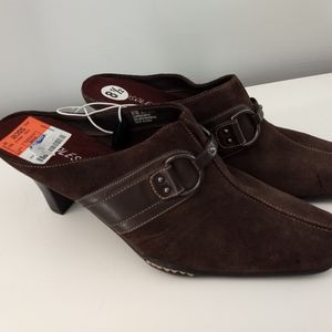 Brown Aerosoles mules